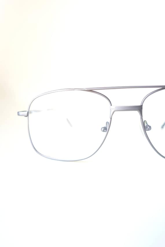 1980s Mens Chrome Wire Rim Eyeglasses - 80s Silver