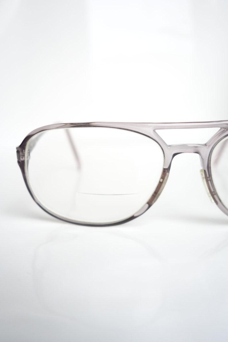 06a459d4fe0 1980s Clear Mens Aviator Glasses Mens Vintage Eyeglasses