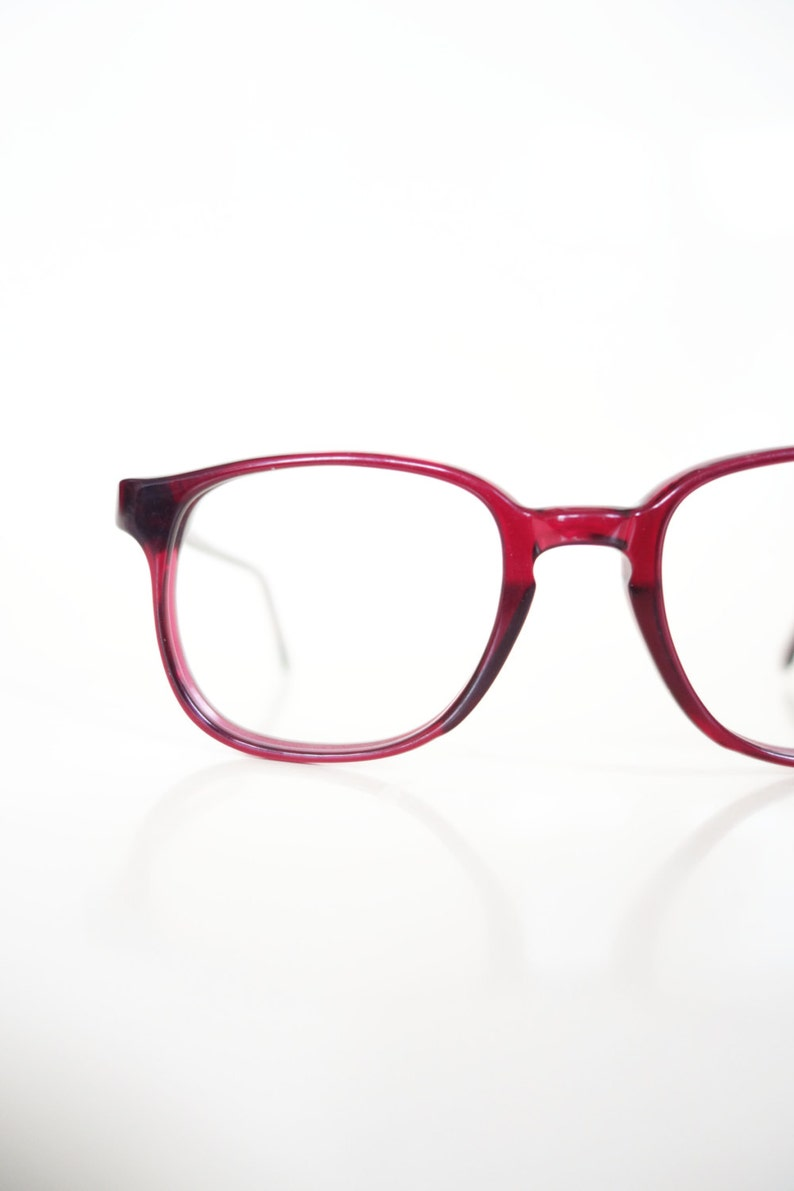 9d4c2858d46d 1960s Red Wayfarer Glasses Bright Red Eyeglasses Made in