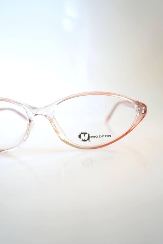 Jahrgang Rosa 1990er Jahre Grunge Brille Katze Auge klar Blush