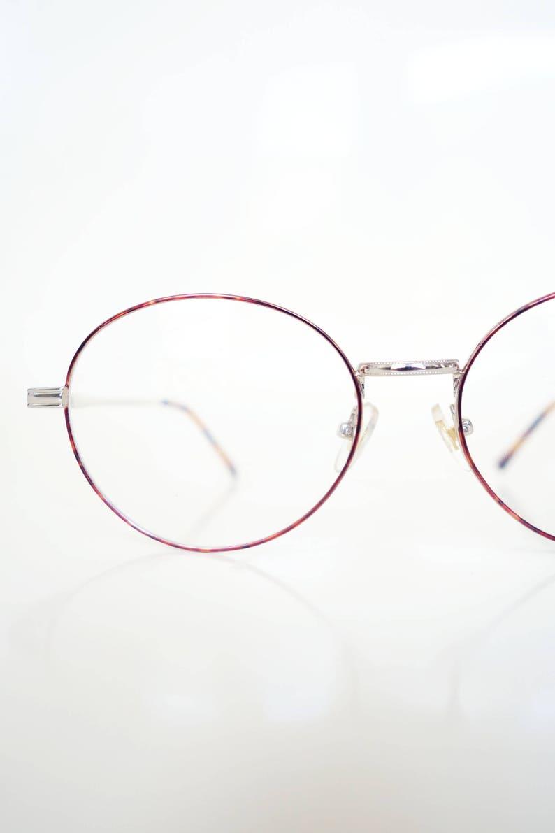 b6db9199f6b Mens Round 1980s Eyeglasses Round Wire Frame Glasses Round