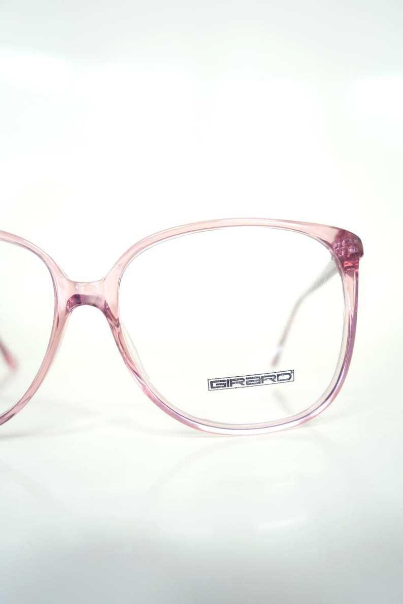 c506626fc574 Round Pink Glasses French Optical Frames 1980s Oversized
