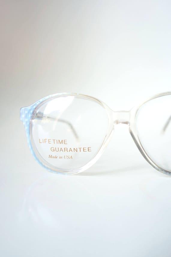 Round Blue Glasses - 1980s Round Glasses - Authent