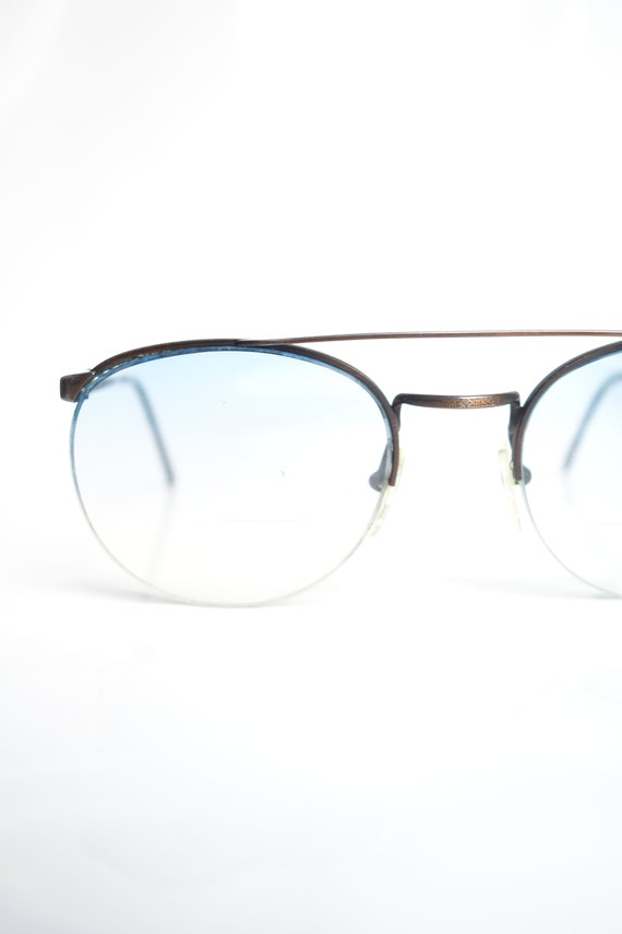 Vintage 1980s Bronze Avaitor Glasses – Mens Rounde