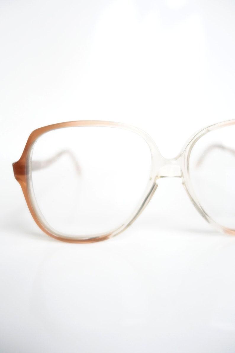 fb6ed23e66b 1970s Boxy Clear Glasses Womens French Eyeglass Frames