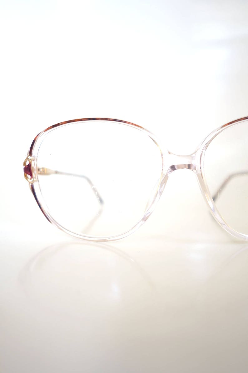 246f0ba47c95 1980s Oversize Glasses Womens Huge Clear Glasses Colorful