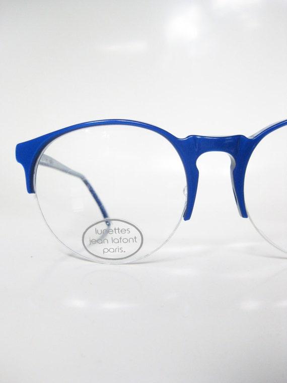 1960s Jean La Font Glasses Dark Cobalt Blue P3 Optical | Etsy