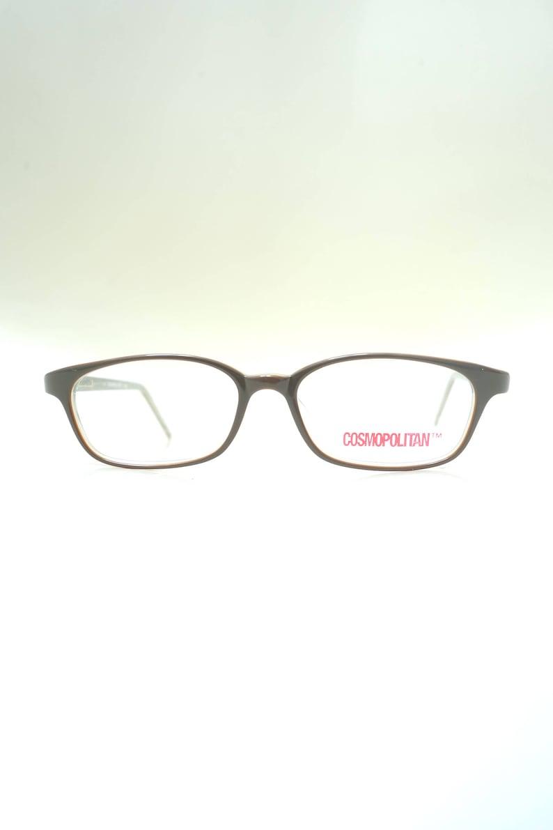 Moss Green and Brown Retro Eyeglasses 1980s Womens Reading Glasses Deadstock Vintage Hornrim Readers NOS Vintage Reading Glasses