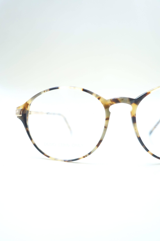 1980er Jahre Runde Brille Damen Brille Knochen Amber