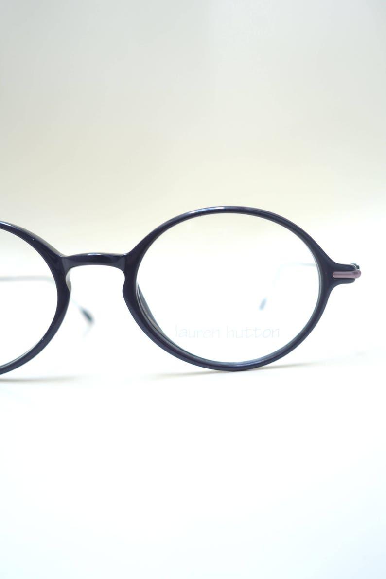 f7f0ffc76 Vintage 1980s Round Glasses Round Obsidian Black Eyeglasses | Etsy