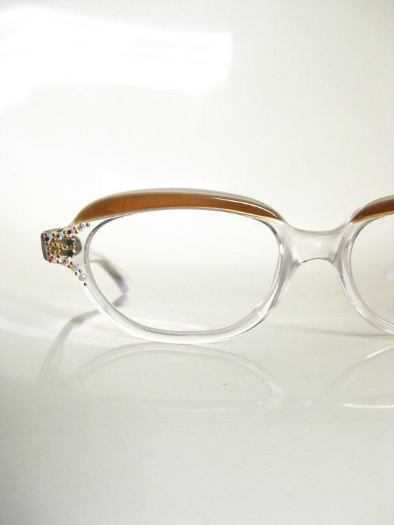 b13c6c6b86bd Rhinestone Cat Eye Glasses Womens Clear Glasses Light