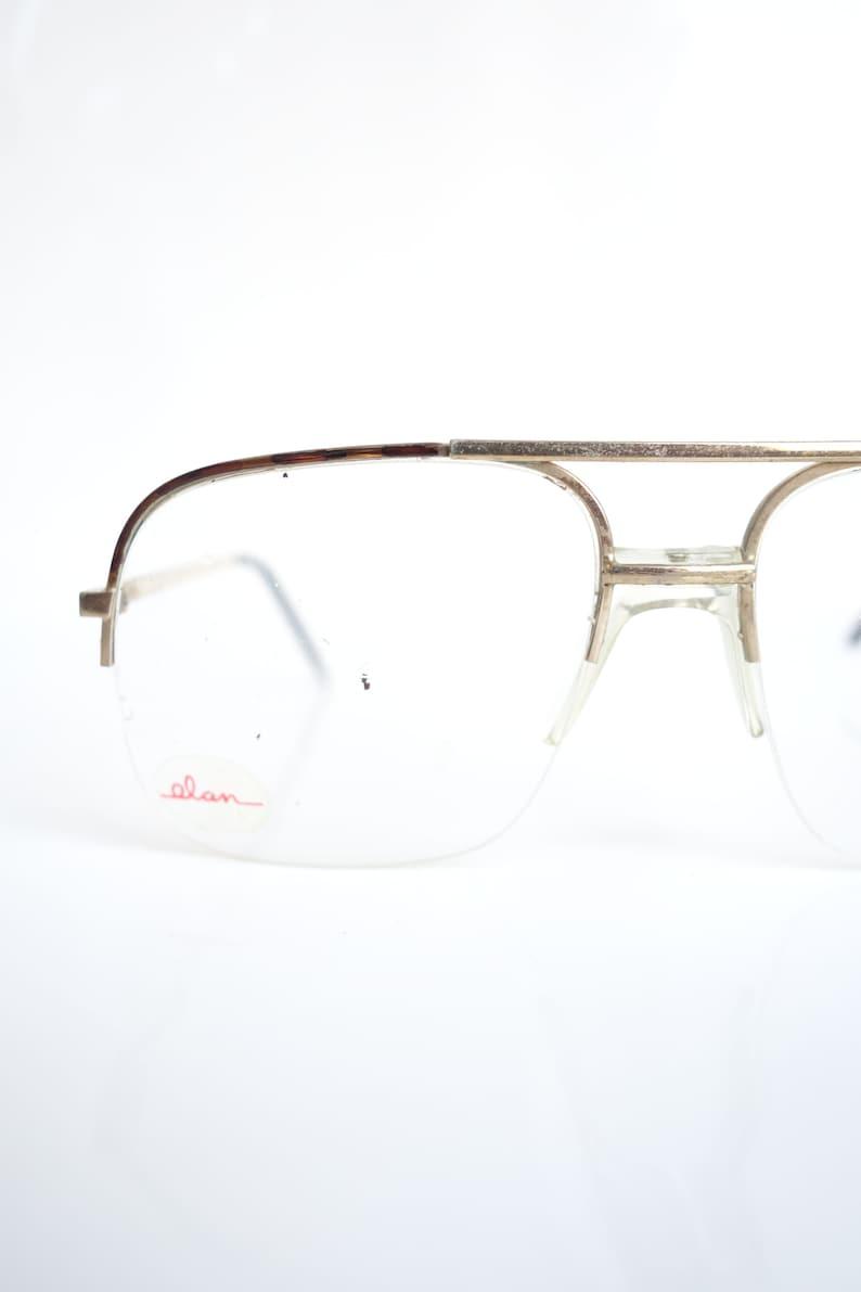 c542c9ca24a 1980s Gold Aviator Glasses Mens NOS Tortoiseshell Sunglasses