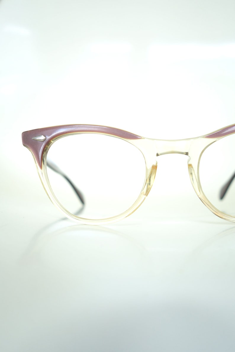178faac6056 1950s Clear Cat Eye Eyeglass Frames Authentic Vintage Cat