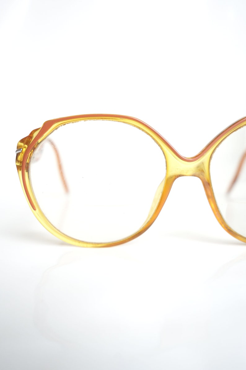 a0cee2add81 1970s Goldenrod Yellow Womens Glasses Ladies Retro Authentic