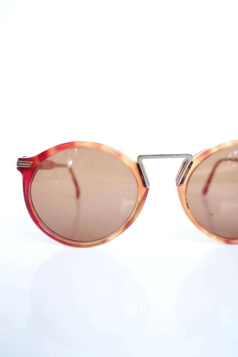 e12a709011 Vintage Round 1960s P3 Sunglasses Warm Rose Tone Amber