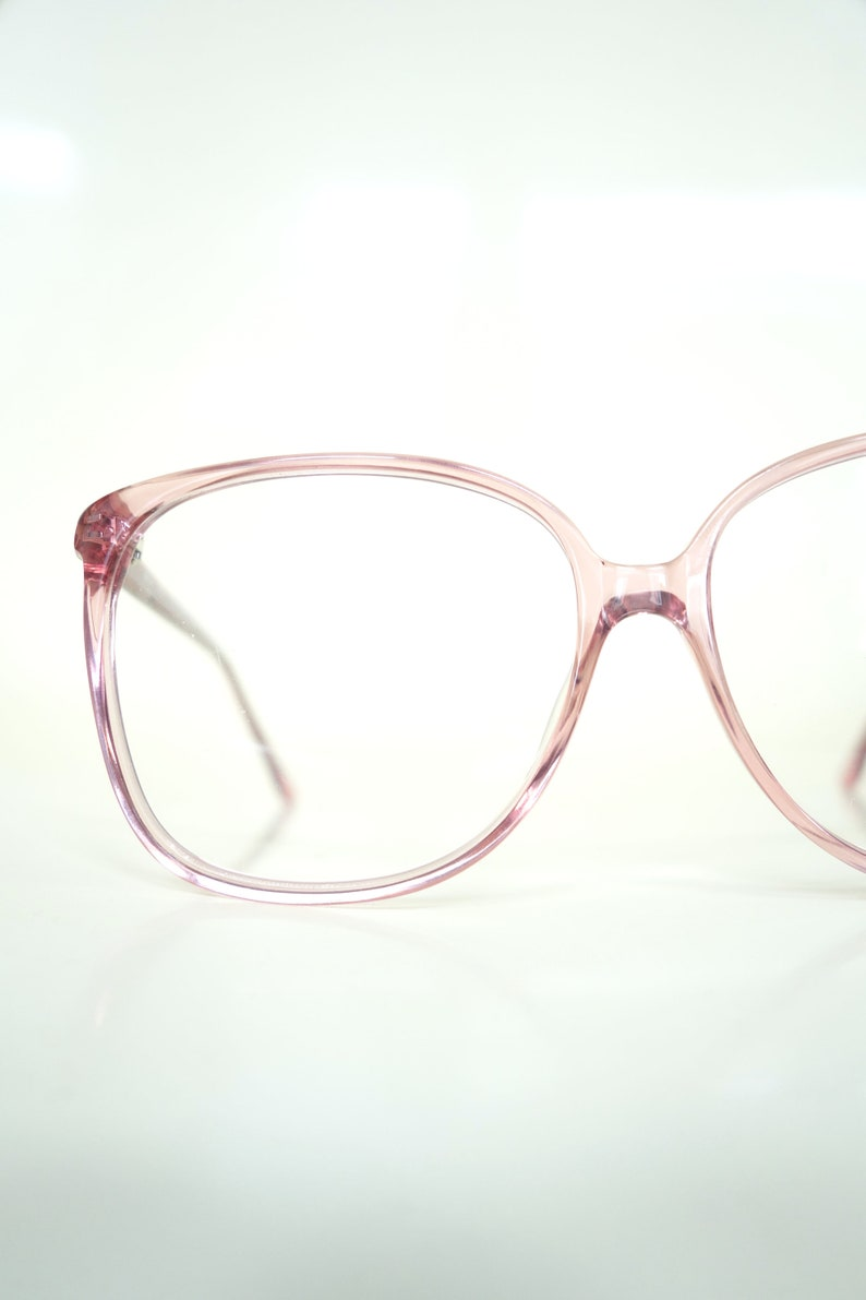 f25923b754 Round Pink Glasses French Optical Frames 1980s Oversized