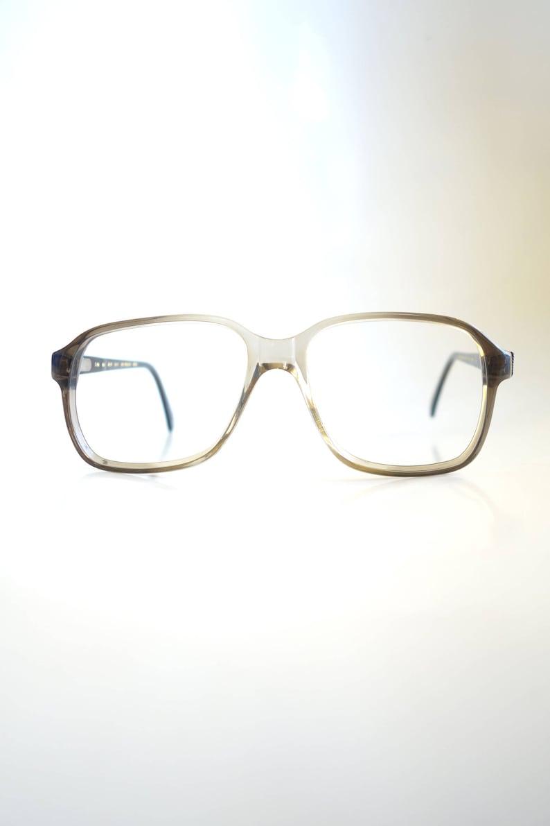 9387c6103fd4 Mens Vintage Boxy Eyeglasses 1960s Mens Horn Rim Glasses | Etsy