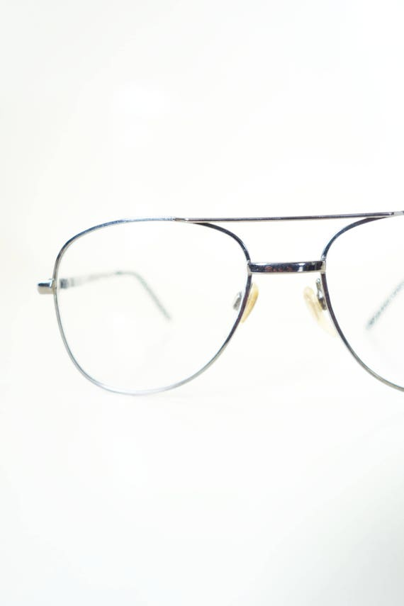 Womens Aviator Eyeglasses - Silver Wire Rim Aviato