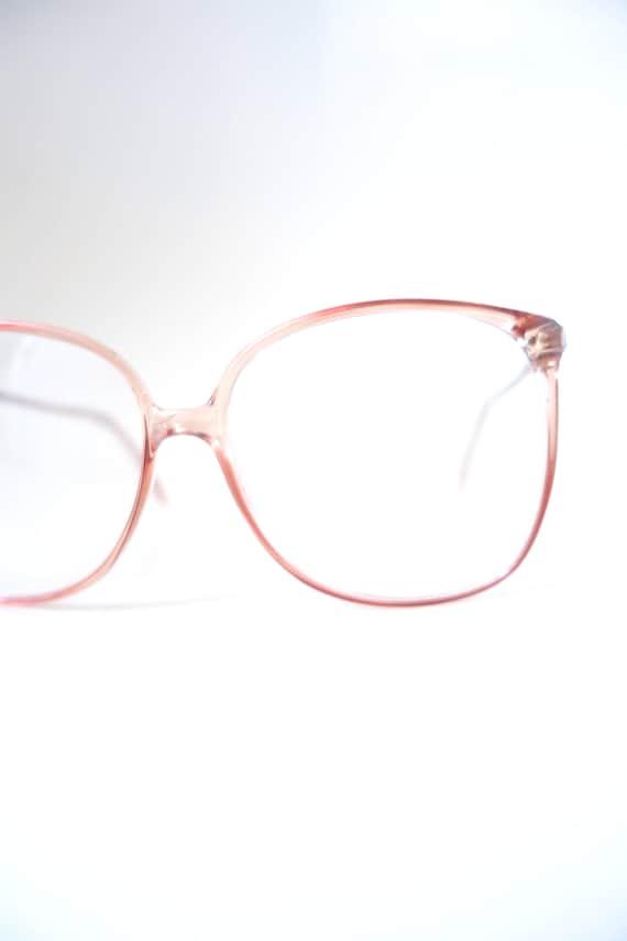 1980s Clear Fake Womens Eyeglasses - Oversized Ret