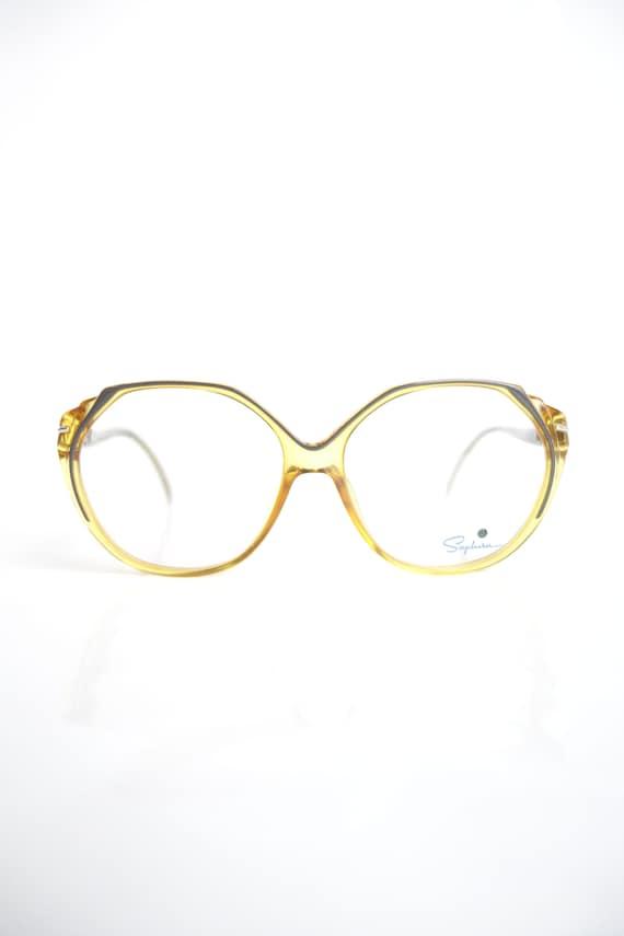 1980er Jahre Runde Goldenrod gelbe Gläser leuchtend gelb   Etsy