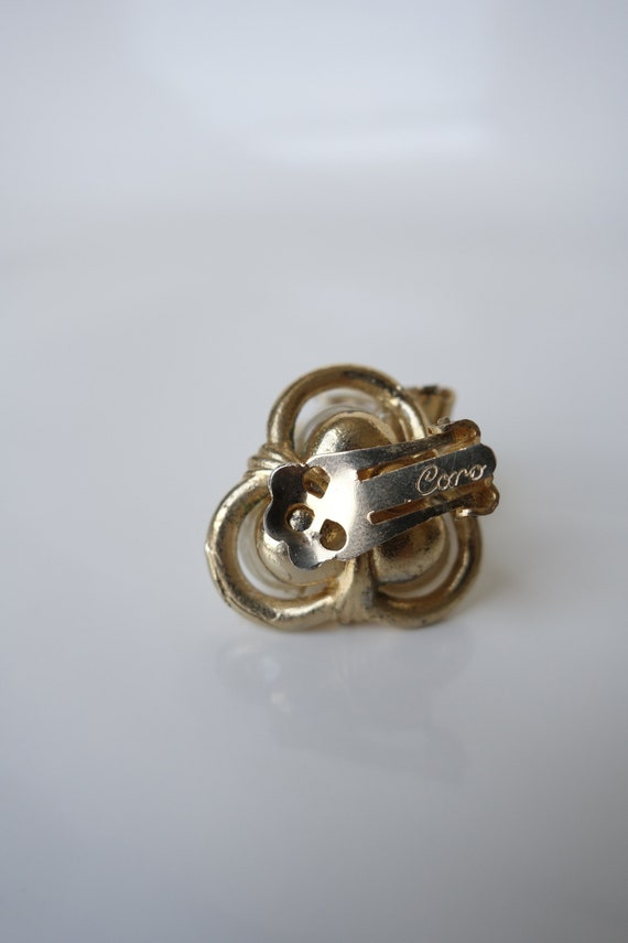 Vintage 1960s Coro Baroque Pearl Clip on Earring … - image 3
