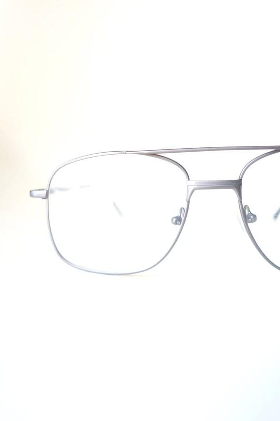 1970s Mens Gunmetal Aviator Glasses - Mens Oversiz