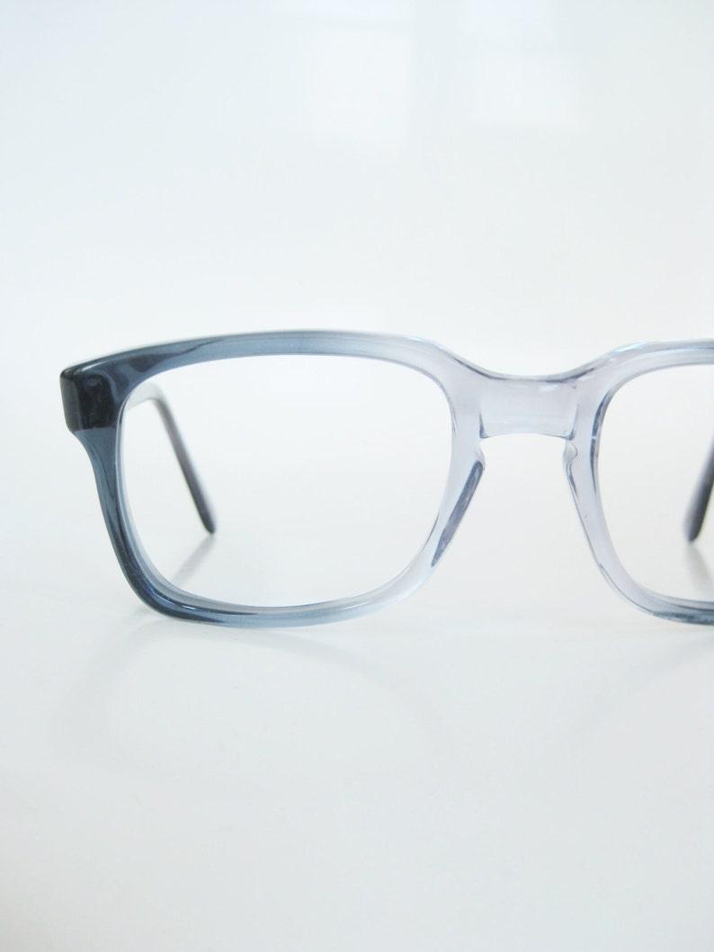 8e7cc31983db 1960s Mens Horn Rim Frames Mens Blue Vintage Sungalsses | Etsy