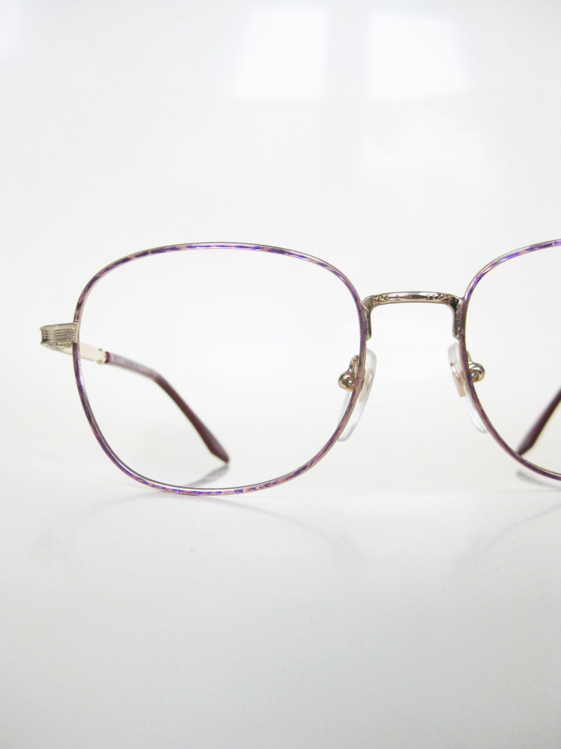 a4178ae9b82c Pink Wire Frame Glasses Womens Vintage 1980s Oversized