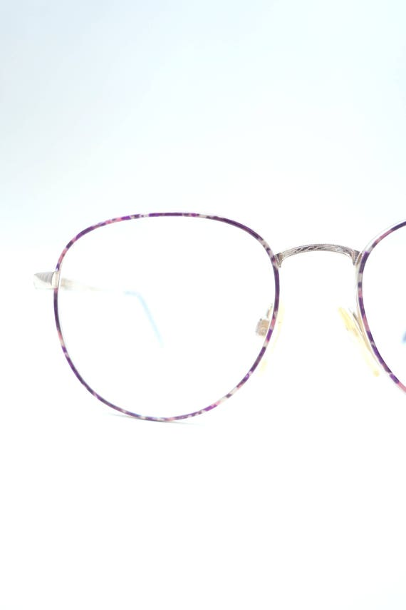 Round Purple Eyeglasses Womens Vintage Wire Frame Glasses | Etsy
