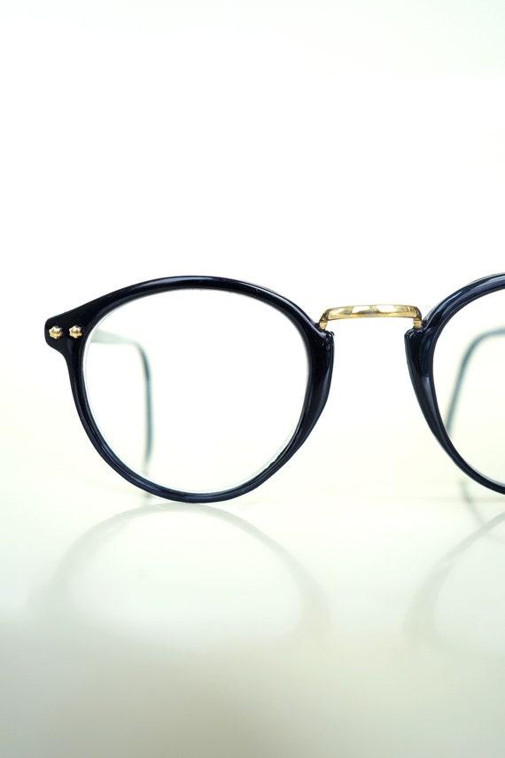 Obsidian Black Round Optical Frames 1980s Round Sunglasses | Etsy