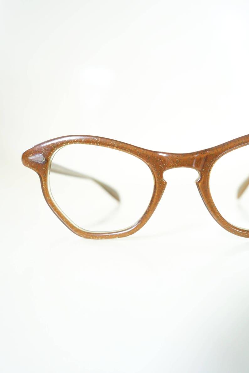 e248efcf8e238d Jaren 1950 glitter Cat Eye bril gouden Glitter bril 50 Cat