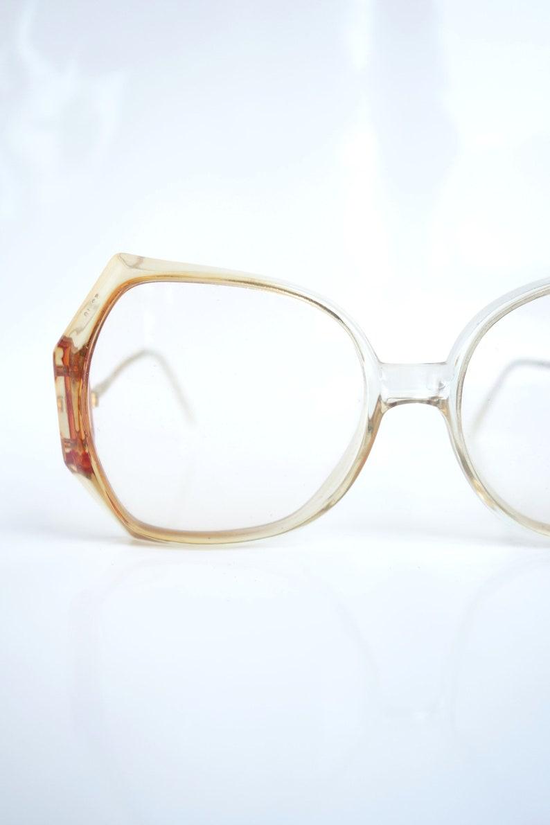 521d9286be6 1970s Butterfly Glasses 70s Retro Oversized Clear Eyeglasses