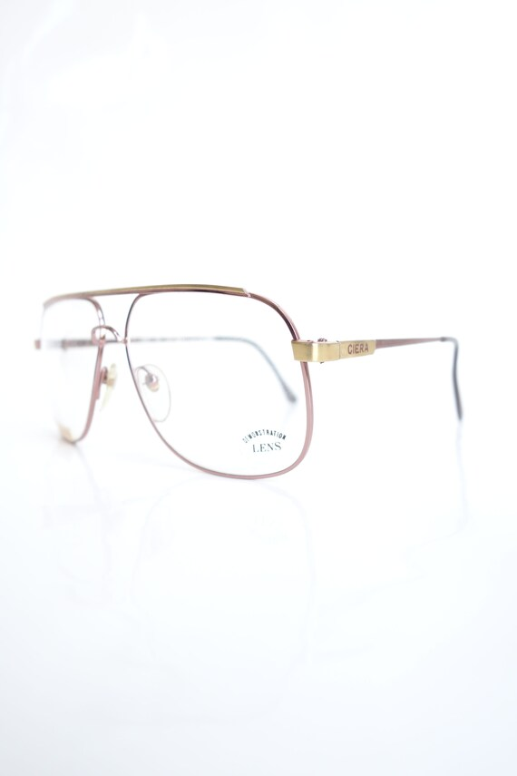 Vintage Rose Gold Mens Aviator Glasses – Rose Gold