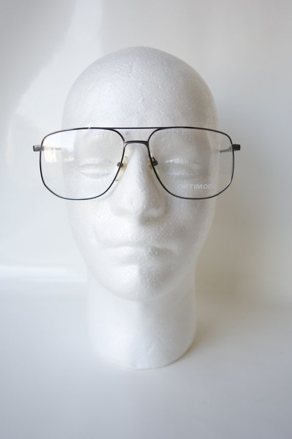 Shiny Chrome Aviator Eyeglass Frames – Vintage Me… - image 6