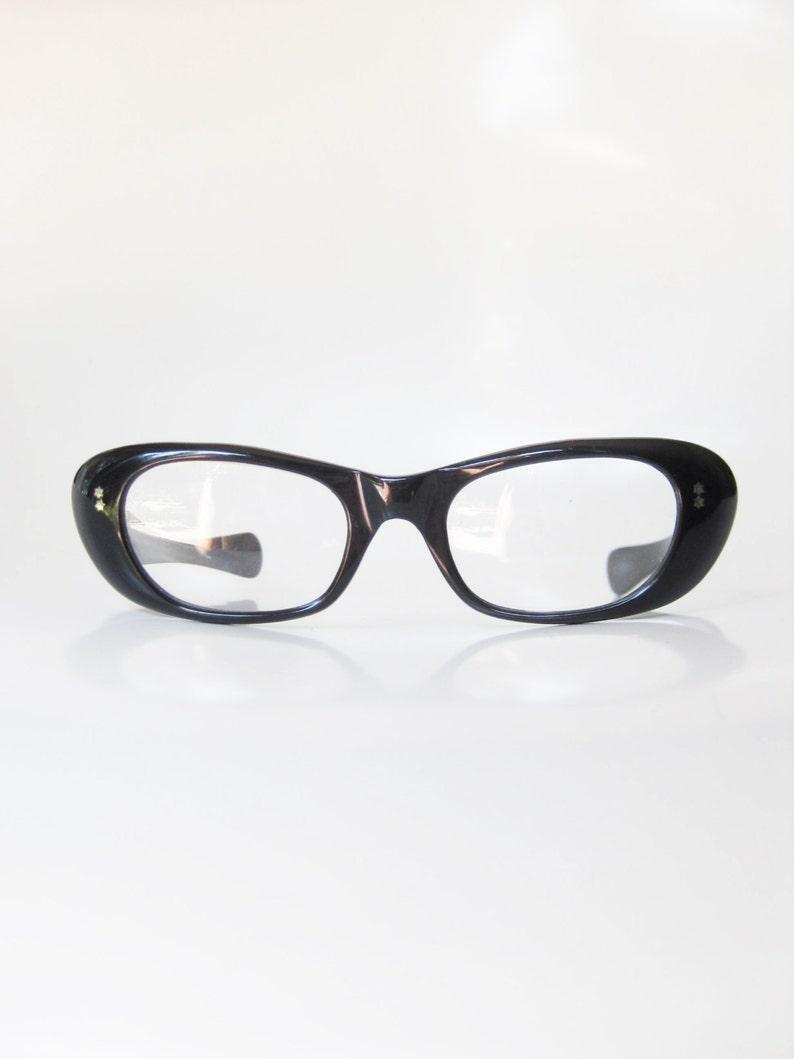 d4c774b1e2 Obsidian Black Cat Eye Glasses 1960s Cat Eye Eyeglasses