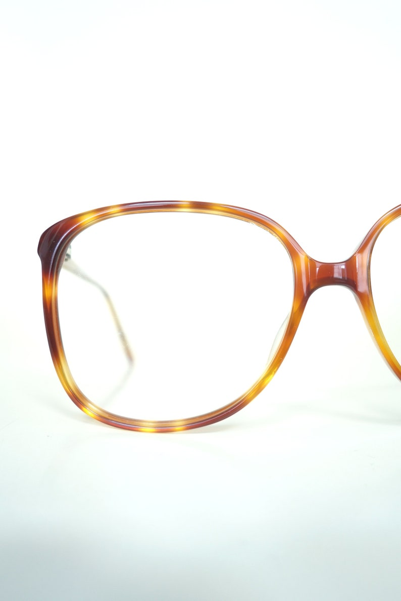 24808db8058f 1980s Oversized Glasses Light Amber Tortoiseshell Eyeglasses