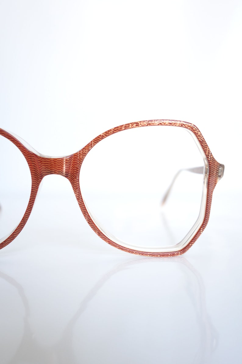 4261e71855d2 Oxblood Red Optical Frames 1980s Oversized Red Glasses