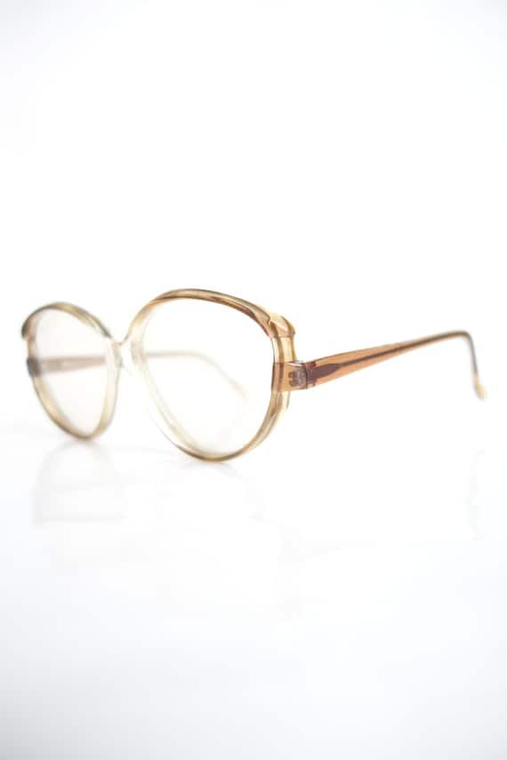 Vintage French 1980s Cat Eye Glasses – Light Brown