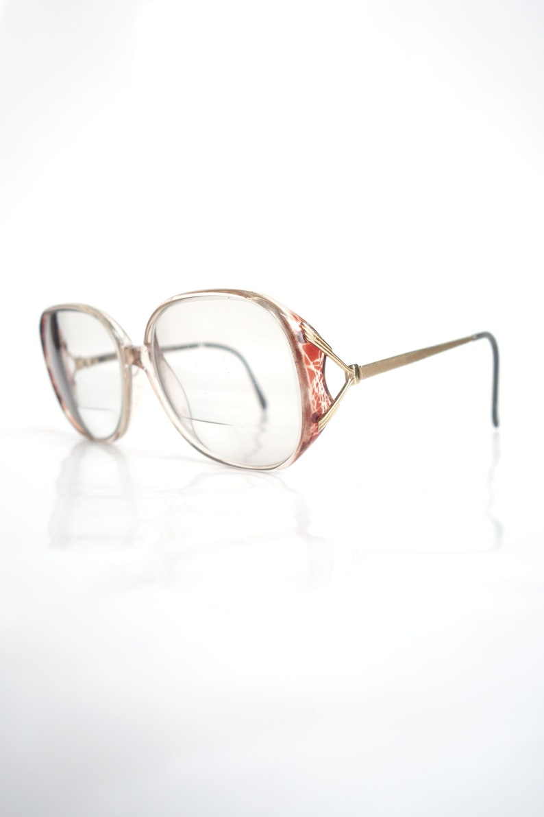b982d5f56b 1980s Vintage Luxottica Frames Womens Oversized Clear