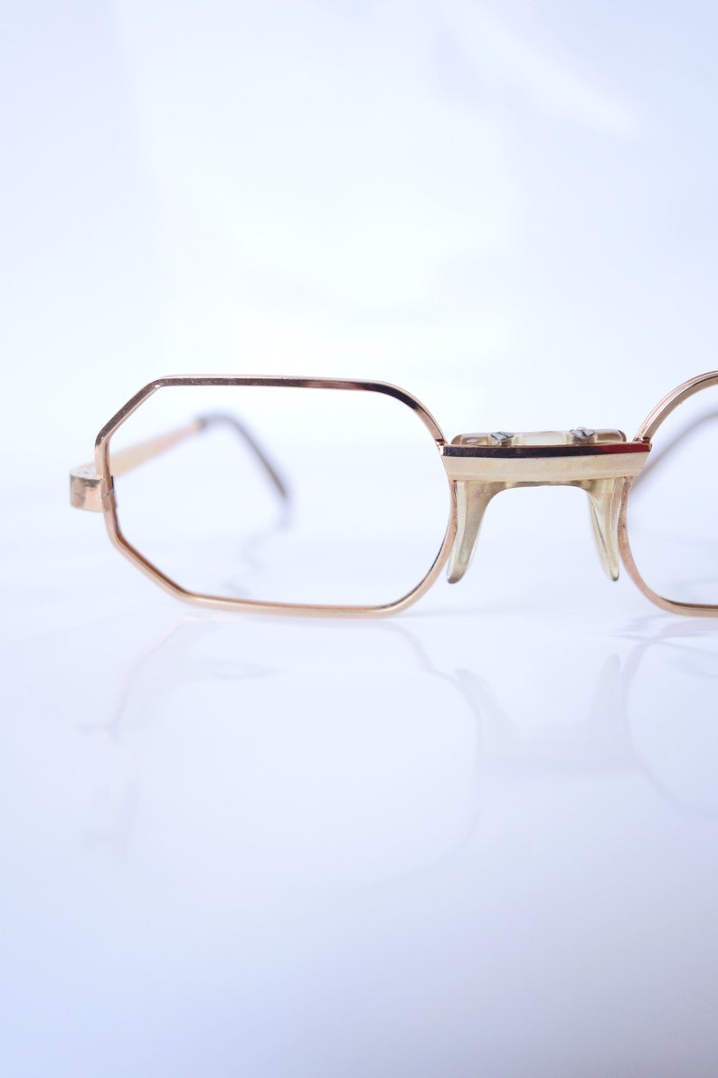 6736454b9f0f Vintage Hexagon Gold Wire Rim Eyeglasses Gold Wire Frame