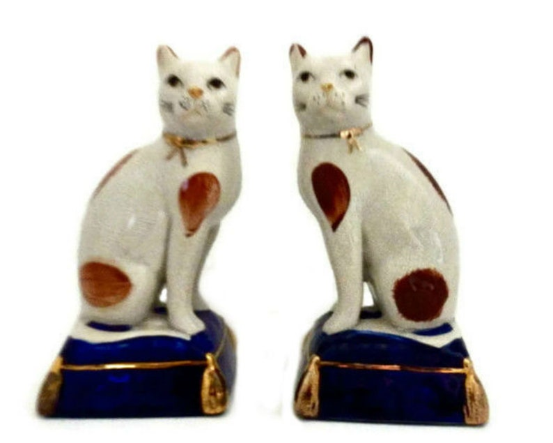 Fitz and Floyd Staffordshire Style Cat Bookends | Etsy