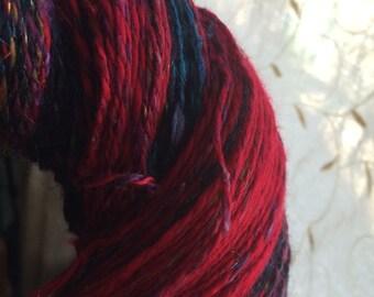 Savitri 989 yards Sport crimson handspun yarn