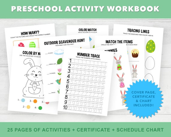 Preschool Workbook Printable, Pre K Homeschool Printables, Toddler  Worksheets, Easter Activity Printable, Learning Counting Shapes Colors By  Aster Bloom Designs Catch My Party
