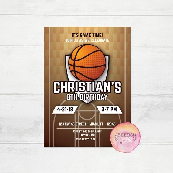 Basketball birthday invitation basketball invite sports etsy image 0 filmwisefo