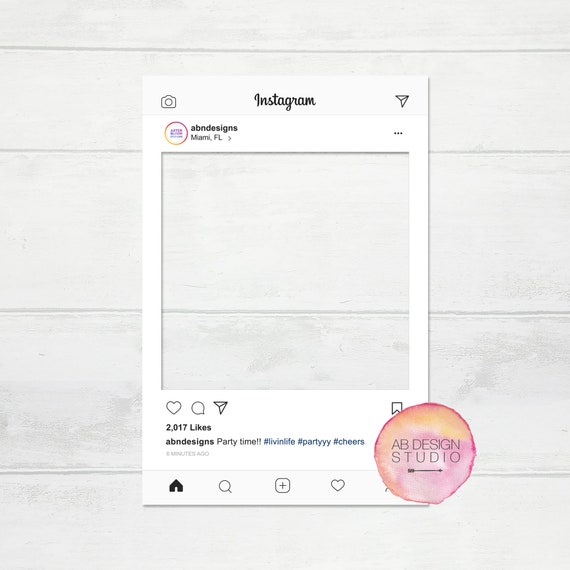 Instagram Frame Photobooth Frame Instagram Photo Prop