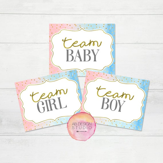 Gender Reveal Signs Gender Reveal Photo Booth Props Gender