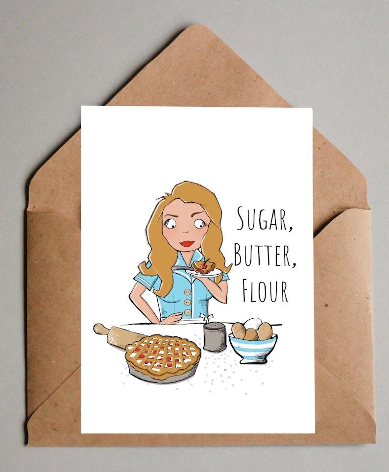 Waitress Musical Theatre Blank Birthday Greeting Card