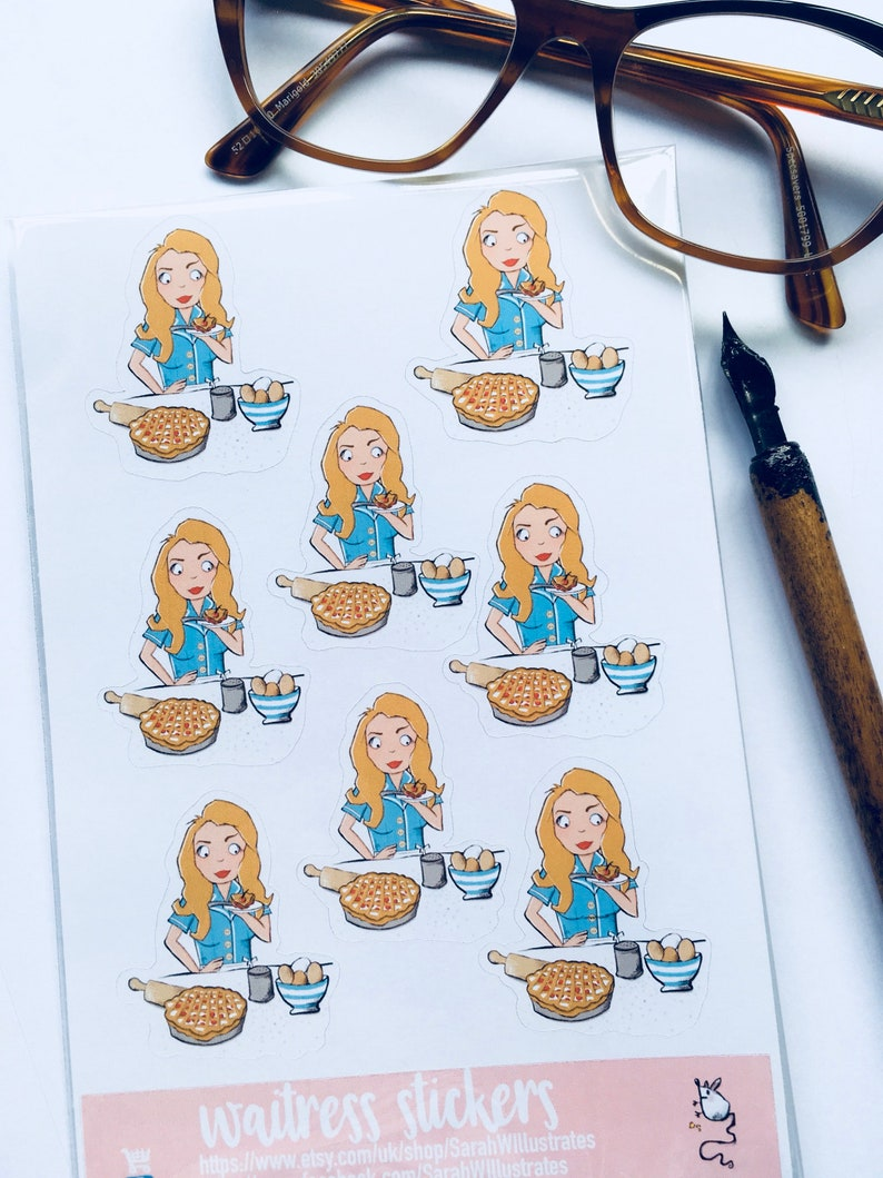 stationery planner  journal scrapbooking crafting Waitress the Musical Theatre Sticker Sheet