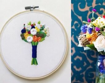 Cotton Anniversary Gift for Her. Second Anniversary Gift. Traditional Second Anniversary. Wedding Bouquet Keepsake. Wedding Flowers KimArt