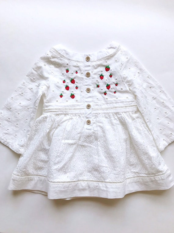 c909842ed59a Embroidered dress for baby girl. One of a kind clothing.